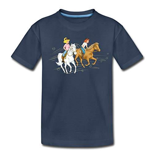 Bibi Und Tina Ausritt Mit Amadeus Und Sabrina Teenager Premium T-Shirt, 146/152 (10 Jahre), Navy