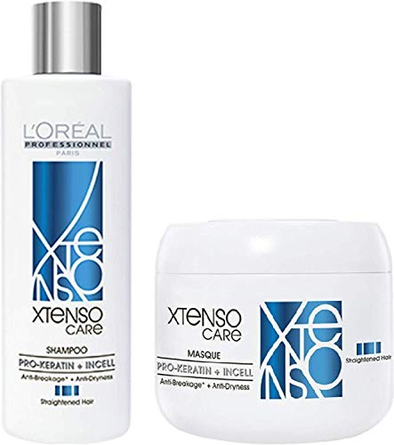L'Oreal Professional X-tenso Care Straight Shampoo 230 mL & Masque 200 mL Combo Pack
