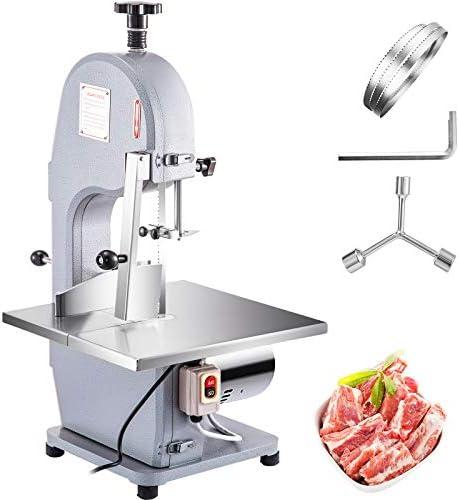 VBENLEM 110V Commercial Meat Bone Machine 850W Heavy Duty Frozen Beef Cutter 210mm Wheel Butcher product image