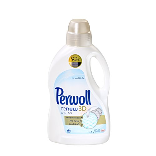 Perwoll renew 3D weiß, Waschmittel, 4er Pack (4 x 20WL)