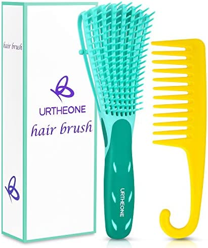 Detangling Hair Brush Hair Detangler Brush and Wide Tooth Comb Set for Black Natural Curly Wet product image