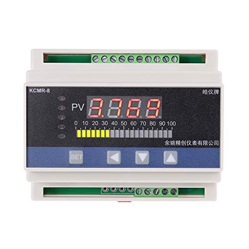Digitales 4-20 mA DC Flowmeter Wasserstandsensor Wasserwaage Druckregler mit 4-Wege-Relais DC24 V Ausgang