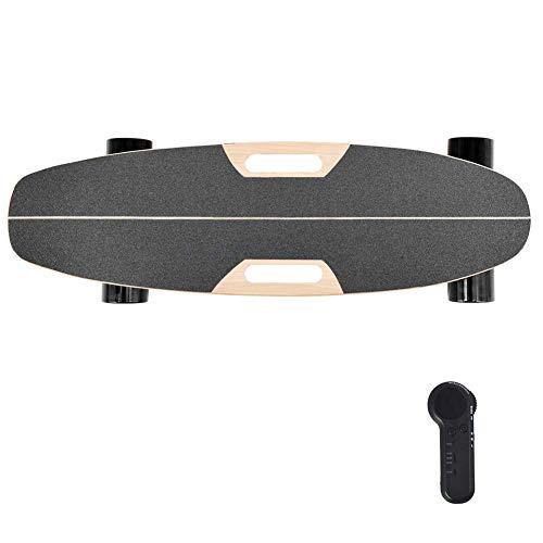 SLM-max Kinder Skateboard Fahren,Mini Electric Cruiser Skateboard, Motorisiertes Skateboard 25 km/h Höchstgeschwindigkeit, Elektrisches Bananen-Skateboard Herausnehmbarer Doppelantr