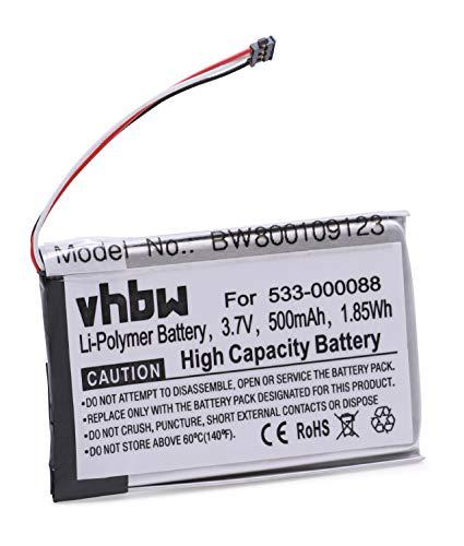 vhbw Batterie Li-Polymer 500mAh (3.7V) pour Touchpad Logitech Touchpad T650. Remplace: 533-000088.