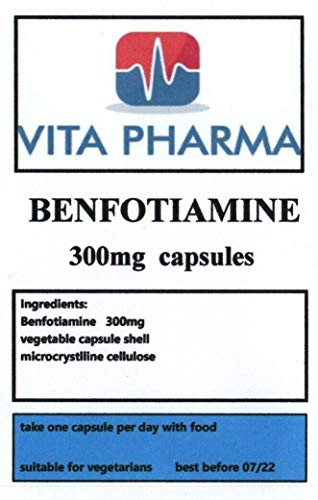 BENFOTIAMINE (HIGH Strength) 300MG, 30 Capsules, 1 Month Supply, by VITA PHARMA, Produced and Pouch Packed HERE in The UK