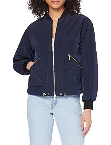 Armani Exchange Damen 90 style coat Bomberjacke, Violett (BLUEBERRY JELLY 1593), X-Small (Herstellergröße:XS)