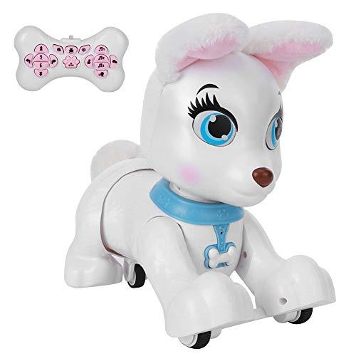 RC Hundemodell Spielzeug, Cartoon Tier Niedlich Programmierbare Fernbedienung Welpe Fernbedienung Hund, Für Kinder Geschenk Kinder(Corgi (white))