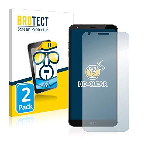 BROTECT Protector Pantalla Compatible con LG G6 Protector Transparente (2 Unidades) Anti-Huellas