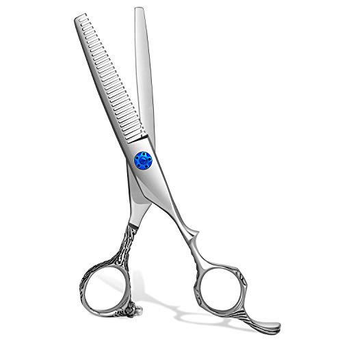 iBealous Hair Thinning Shears, Professional Hair Cutting Scissors, Japanese 440C Stainless Steel Cutting Teeth Scissors Salon Texturizing Shears for Stylist, Women, Men, Kids