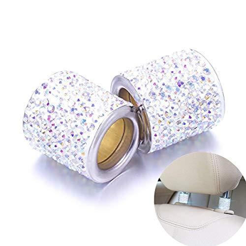 ZYTC Diamant Kristall Bling Auto Dekor Kopfstütze Halsbänder Auto Bling Auto Charme für Sitz Strass für Auto LKW SUV Jeeps Innendekoration Autoinnenausstattung