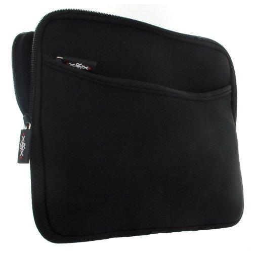XiRRiX Tablet PC Tasche - Neopren Schutzhülle mit zusätzlichem Fach Grösse: bis 25,65/26,92 cm (10.1/10.6 Zoll) für max. Abmessungen von 276 x 178 mm - Hülle in schwarz