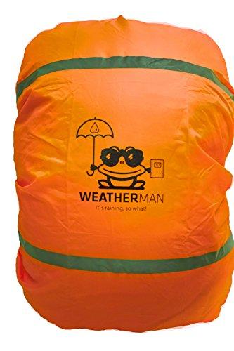Weatherman waterdichte regenhoes voor schooltas en rugzak, signaalkleur, met elastiek, regenhoes, veiligheidshoes, beschermhoes, regenhoes