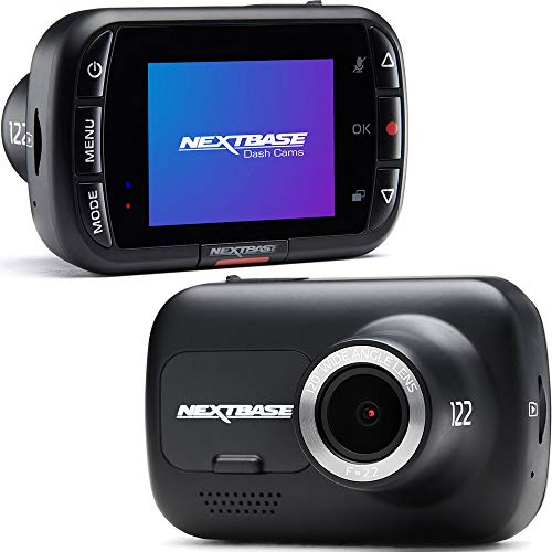 Nextbase 122 Dash Cam Full 720p/30fps HD Recording In Car DVR Camera- 120° 5 lane Wide Viewing Angle- Polarising Filter Compatible- Intelligent Parking Mode- G-Sensor- dashcam