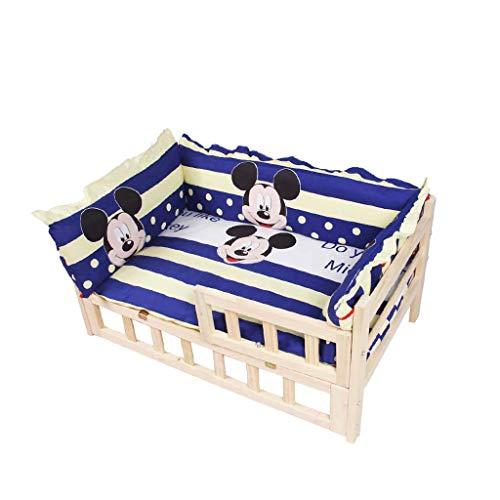 Cama para mascotas Cama for mascotas Nueva mejorada Respetuoso con el medio ambiente Madera sólida Cama de peluche desmontable y lavada Cama for gatos Perrera Cama for perros Golden Retriever Cama for
