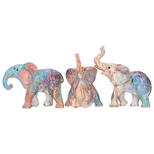 Jingyig Estatua de Elefante de Resina, Encantador Adorno de Elefante de Resina, Figura de Elefante Duradera, para decoración de Escritorio, gabinete de Vino