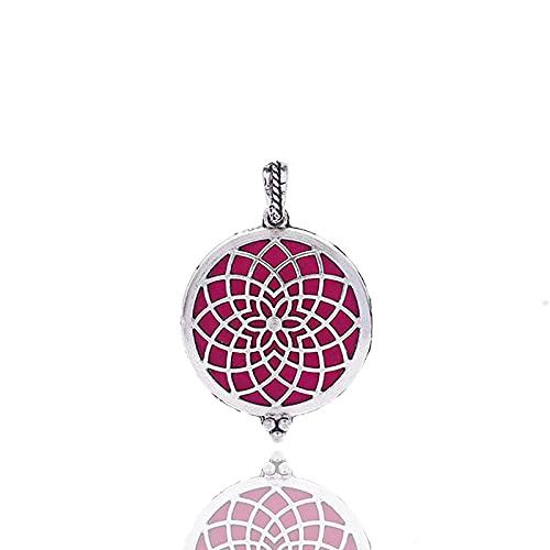 Essentiel Pétrole Aromathérapie Pendentif Collier Pendentif De Parfum De Parfum De Radiateur De Fleur De Soleil-Z