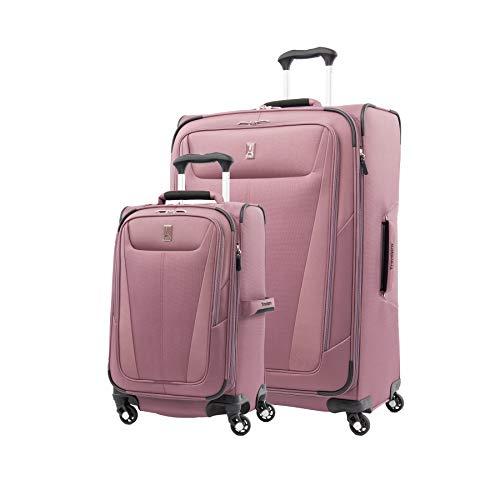 Travelpro Maxlite 5-Softside Expandable Spinner Wheel Luggage, Dusty Rose, 2-Piece Set (21/29)