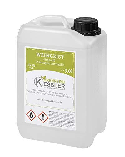 Brennerei Kessler Weingeist Primasprit Ethanol 96,4% - 3000ml