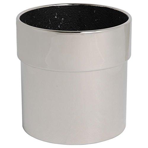 hydroflora 61416515 plantenbak Value Line Cycle Edge diameter 24 x 24 cm, V2A-roestvrij staal glanzend gepolijst