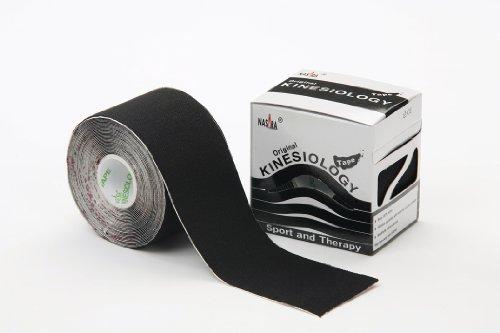 Nasara Kinesiologie Tape Original (5 cm x 5 m), Schwarz