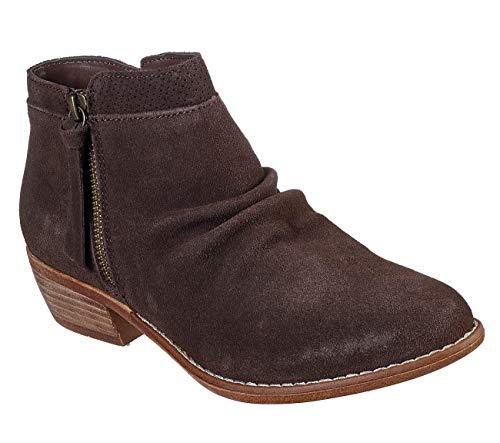 Skechers Botas de tobillo Texas para mujer, marrón (Chocolate), 36.5 EU