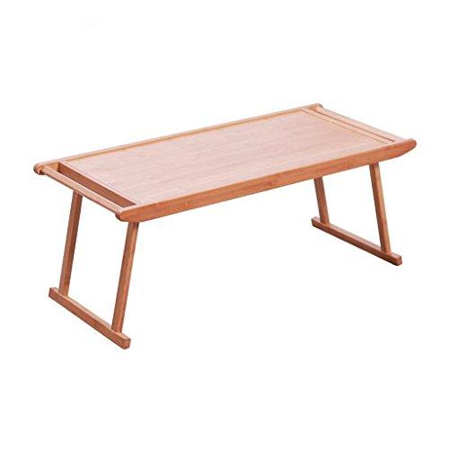 GHM Bureau Table Basse Simple Moderne Moderne Salon thé Tables de thé en Bambou rectangulaire Pliant Petit mobilier (Taille : L96cm*W43cm*H39cm)