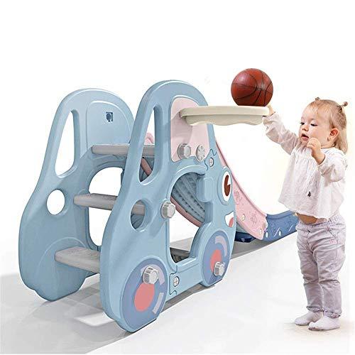 WCY Diapositiva del Patio Interior Infantil de Juegos Infantiles Plegables Familiares Diapositiva del Patio Perfecto for los Principiantes (Color: Azul, tamaño: 180x40x80cm) yqaae