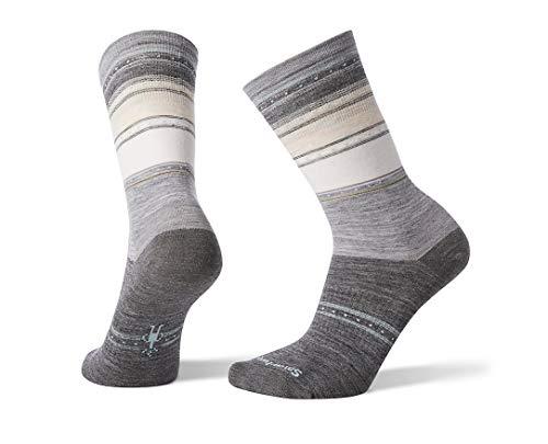 Smartwool Damen Women's Sulawesi Stripe Crew Socken, Grau (Light Gray 039), Medium