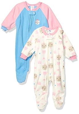 Gerber Baby Girls 2-Pack Blanket Sleeper, Blue Princess Bear, 12 Months