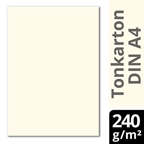 Glüxx Agent 50 Blatt Tonkarton DIN A4 - Creme - 240 g/m² Dicker Bastelkarton - 21,0 x 29,7 cm Pappe zum basteln für Fotoalbum Menükarte Bedruckbar DIY kreativ Sein