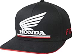 Show your Honda loyalty with this Flexfit hat.Two iconic logos and quality materials make this hat a long-lasting staple on and off the track.98% cotton / 2% Spandex cotton twill.Puff embroidery at center front and puff embroidery at side panels.