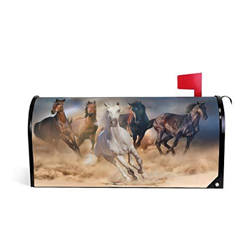 BIGJOKE Briefkasten-Abdeckung mit Tiermotiv und Pferde-Muster, magnetisch, für Zuhause, Garten, Hof, Dekoration