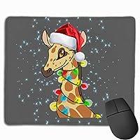ハッピークリスマスキリン マウスパッド 25×30 大判 ノンスリップ 防水 ゲーミング おしゃれ マウスの精密度を上がる