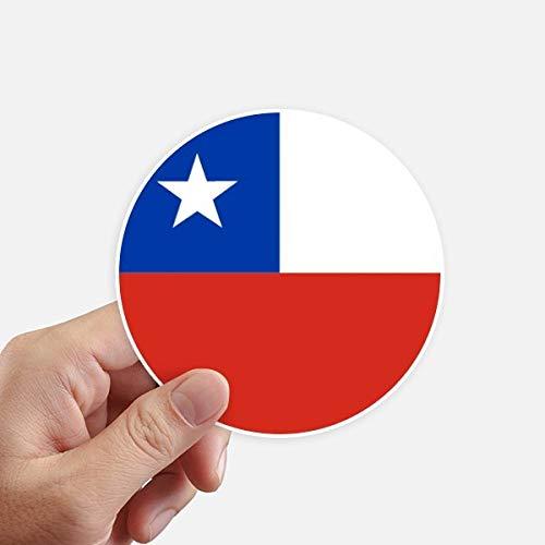 DIYthinker Chili Nationale Vlag Zuid-Amerikaanse Symbool Ronde Stickers 10 Cm Wandkoffer Laptop Motobike Decal 8 Stks