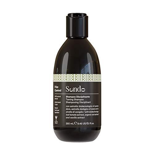 Sendo Champú Frizz Control para el Cabello, Taming Shampoo, Anti Frizz, Controla el Cabello Encrespado, Extracto Biotecnológico de Tomate, Extracto Biológico de Avena, Extracto de Vainilla 250 ml