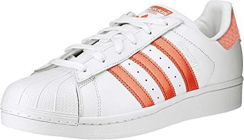 adidas Damen Superstar Sneaker, Weiß Korall, 36 EU