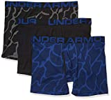 Under Armour Charged Cotton 6' Novelty Boxerjock-3 Pack Ropa Interior, Black (002)/American Blue, Medium para Hombre