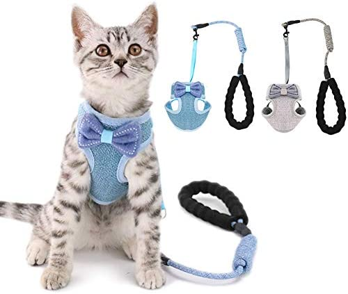 2 Pack Cat Harness with Leash Escape Proof,Adjustable...