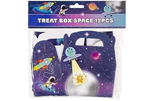 Schnooridoo 12 x Treat Box Space Weltraum Rakete Gastgeschenk Geschenkbox Kindergeburtstag