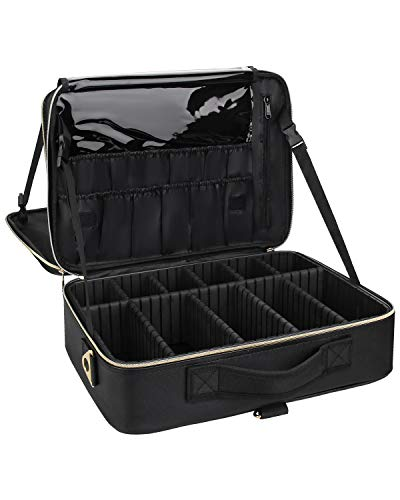 Chomeiu Large Makeup Case 3 Layer Travel Makeup Case Portable...