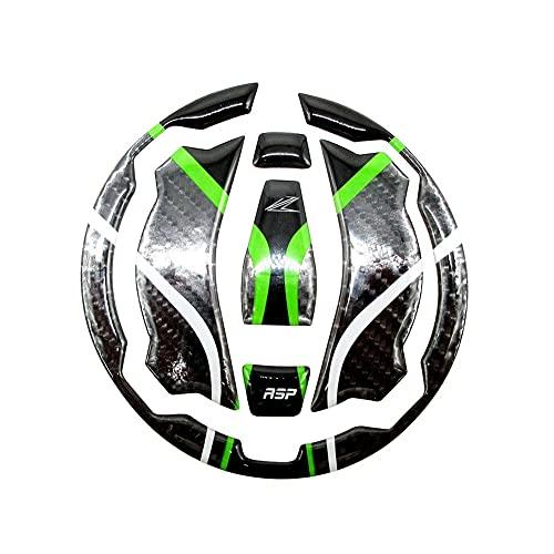 LYJB Calcomanías de Motociclismo para Kaw&asaki Z400 Z650 Z900 2016 2017 2018 2019 Motocicleta 3D Fibra de Carbono Tapa del Tanque de Gas Protector de la Cubierta de la Etiqueta engomada