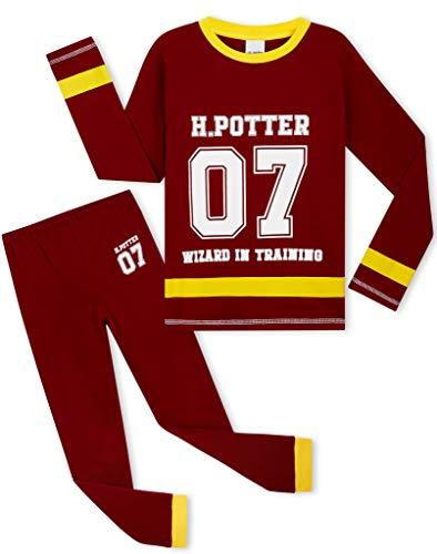 HARRY POTTER Pyjama Enfant Fille, Vêtements De Nuit 100% Coton, Idée De Cadeau Gryffondor pour Enfant et Ado 5-14 Ans (Bordeaux, 11-12 Ans)