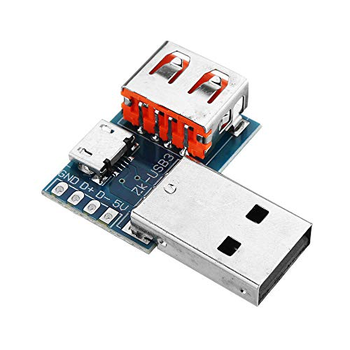 Módulo electrónico Adaptador USB Junta Micro USB a USB hembra del conector macho a hembra de cabecera 4P 2.54mm 10pcs Equipo electrónico de alta precisión