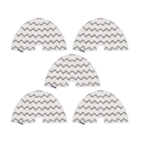 Wishful 5PCS Mop Pads de Remplacement Nettoyeur Vapeur Chiffons Fit for Shark S4601 / S4701 / S4701D / SE450 série Steam Mop Et Aspirateur