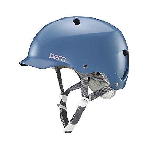 Bern bw05e18sid1Casco de Bicicleta de Mujer, Azul, S
