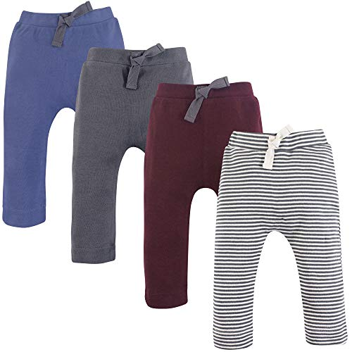 Touched by Nature Baby Organic Cotton Pants, Charcoal Burgundy, 0-3 Months