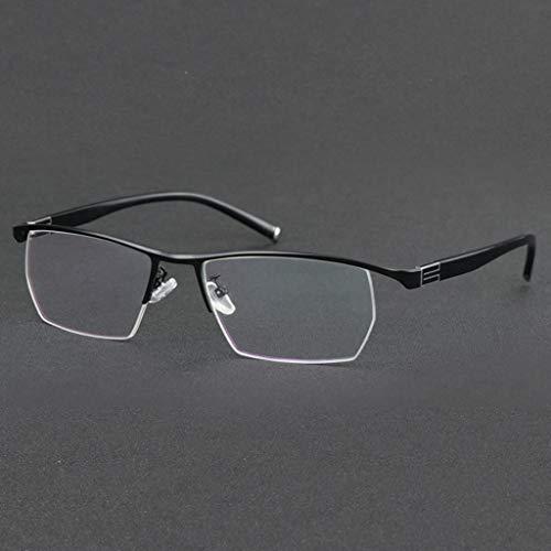 QAQA Gleitsicht Lesebrille, Brillen - Männer for Frauen, Frühlings-Scharnier-Readers for Männer Anti Filter Leichte Brille (Color : Black, Size : +1.0)