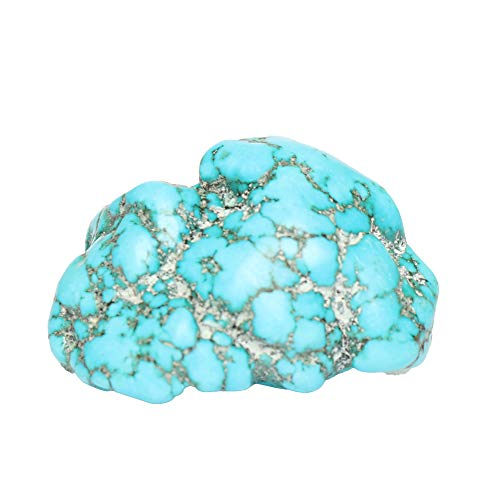 GEMHUB Unheated Natural Rough Blue Turquoise 51.00 Ct Uncut Certified Raw Healing Turquoise Loose Gemstone