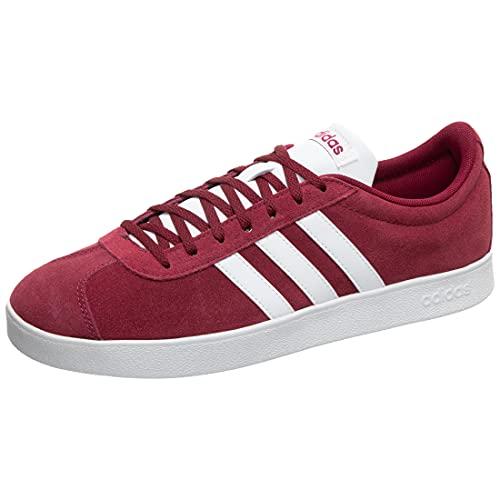 adidas Men's Vl Court 2.0 Skateboarding Shoes, Multicolour (Collegiate Burgundy/FTWR White/Core Black Collegiate Burgundy/FTWR White/Core Black), 11.5 UK