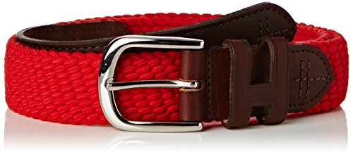 Hackett London 35 MM Parachute Belt Ceinture, Rouge (255 Red), L Homme